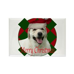 Happy lab christmas Rectangle Magnet (10 pack)
