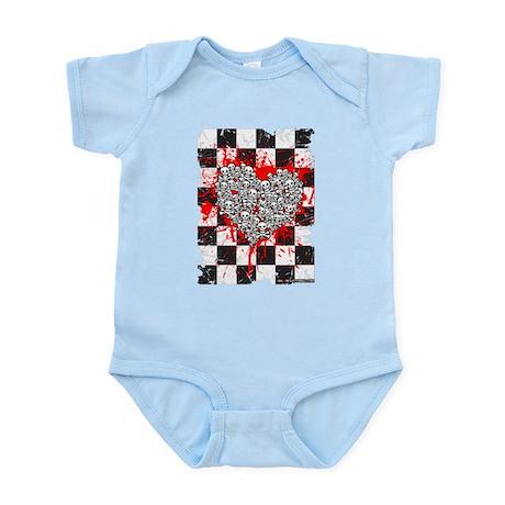 Emo Ska Skull Heart Infant Bodysuit