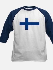 Flag of Finland Kids Baseball Jersey
