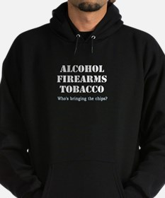 Alcohol Firearms Tobacco Hoodie