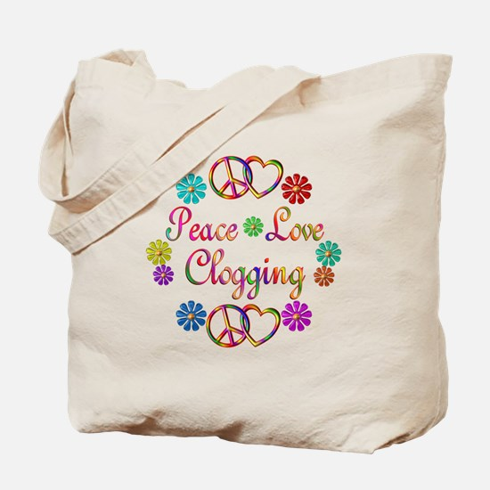 Peace Love Clogging Tote Bag