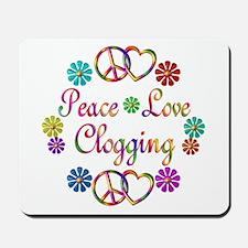 Peace Love Clogging Mousepad