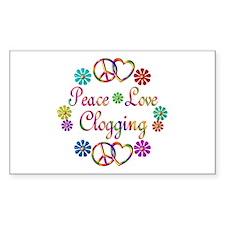 Peace Love Clogging Decal