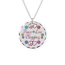 Peace Love Clogging Necklace