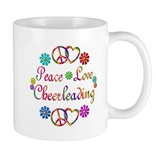 Peace Love Cheerleading Mug