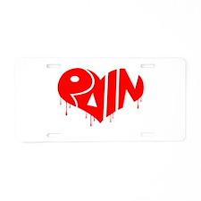Cute Bleeding heart Aluminum License Plate