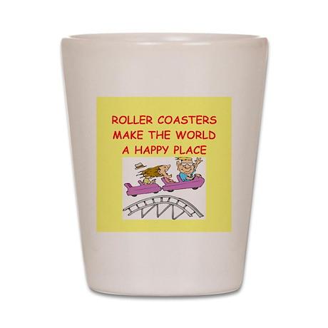 roller coaster Shot Glass