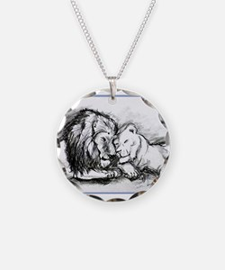 Lions,wildlife, art, Necklace