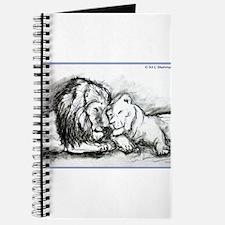 Lions,wildlife, art, Journal