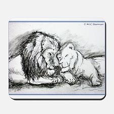 Lions,wildlife, art, Mousepad