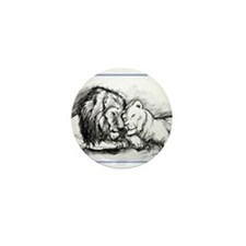 Lions,wildlife, art, Mini Button (10 pack)