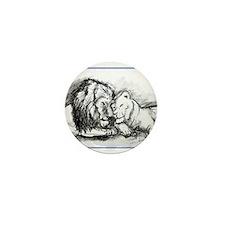 Lions,wildlife, art, Mini Button