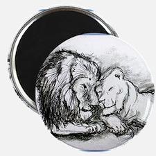 "Lions,wildlife, art, 2.25"" Magnet (100 pack)"