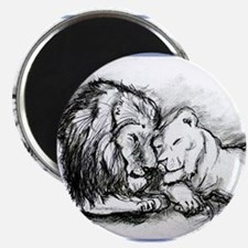"Lions,wildlife, art, 2.25"" Magnet (10 pack)"
