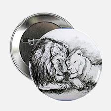 """Lions,wildlife, art, 2.25"""" Button"""