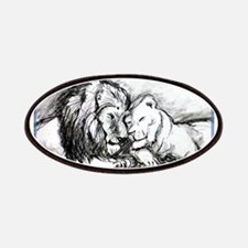 Lions,wildlife, art, Patches