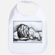 Lions,wildlife, art, Bib