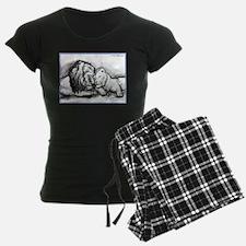 Lions,wildlife, art, Pajamas
