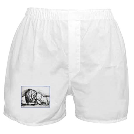Lions,wildlife, art, Boxer Shorts