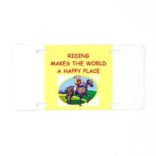 riding Aluminum License Plate