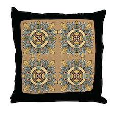 Medieval Tile (sand) Throw Pillow