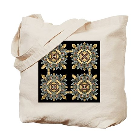 Medieval Tile (black) Tote Bag