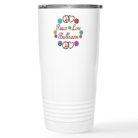 Peace Love Ballroom Stainless Steel Travel Mug