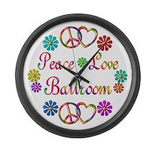 Peace Love Ballroom Large Wall Clock