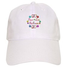 Peace Love Ballroom Baseball Cap