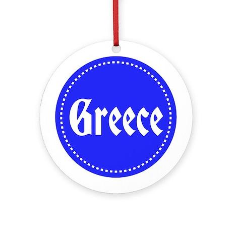 I Love Greece Ornament (Round)