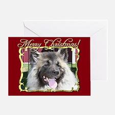 Merry Christmas Akita dog Greeting Card