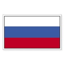 Russia Flag Decal Rectangle Decal