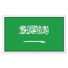 Saudi Arabia Flag Decal Rectangle Decal