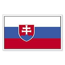 Slovakia Flag Decal Rectangle Decal
