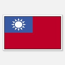 Taiwan Flag Decal Rectangle Decal