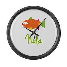 Nola is a Big Fish Large Wall Clock