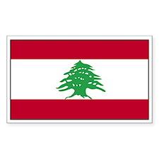 Lebanon Flag Decal Rectangle Decal