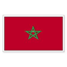Morocco Flag Decal Rectangle Decal