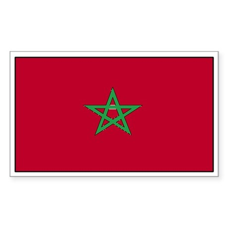 Morocco Flag Decal Rectangle Sticker