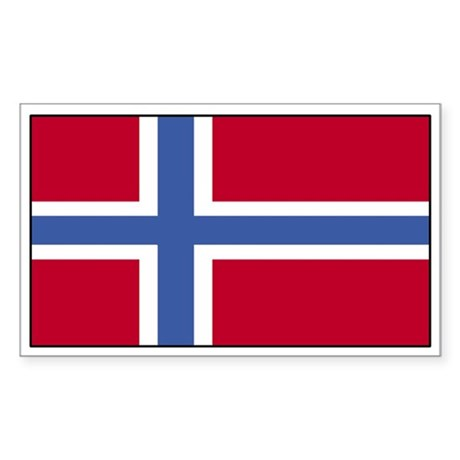 Norway Flag Decal Rectangle Sticker
