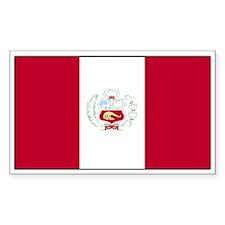 Peru Flag Decal Rectangle Decal