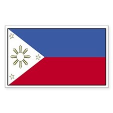 Philippines Flag Decal Rectangle Decal
