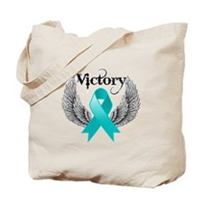 Victory Ovarian Cancer Tote Bag