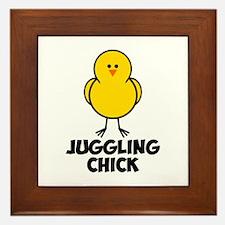 Juggling Chick Framed Tile