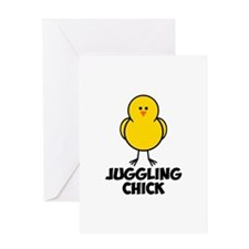 Juggling Chick Greeting Card
