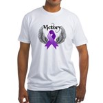 Victory Pancreatic Cancer Fitted T-Shirt