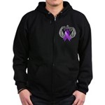 Victory Pancreatic Cancer Zip Hoodie (dark)