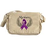 Victory Pancreatic Cancer Messenger Bag