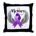 Victory Pancreatic Cancer Throw Pillow