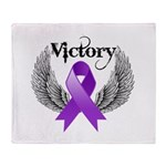 Victory Pancreatic Cancer Throw Blanket